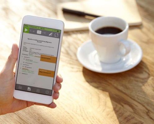 Nieuwe iPhone OurMeeting App voor Papierloos Vergaderen
