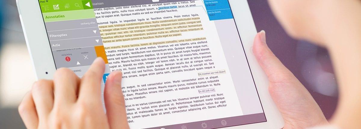 De OurMeeting vergaderapp voor iPad | Annotaties view