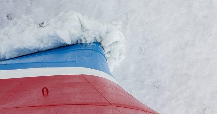 De kracthe van een ijsbreker