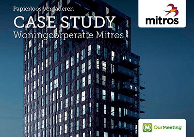 Case study Mitros OurMeeting papierloos vergaderen